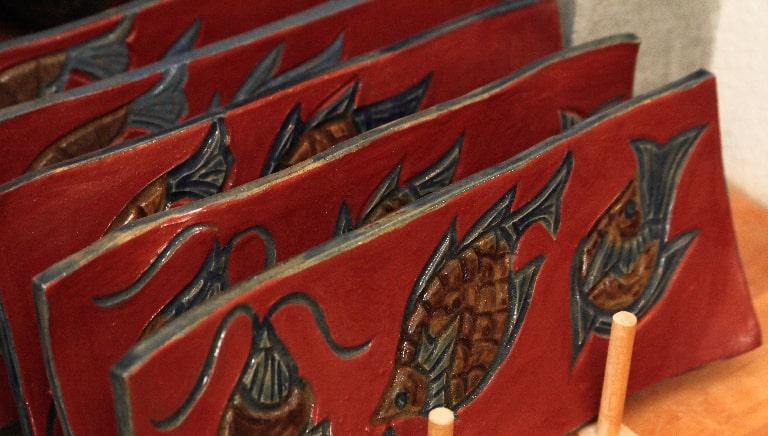 赤絵魚紋について