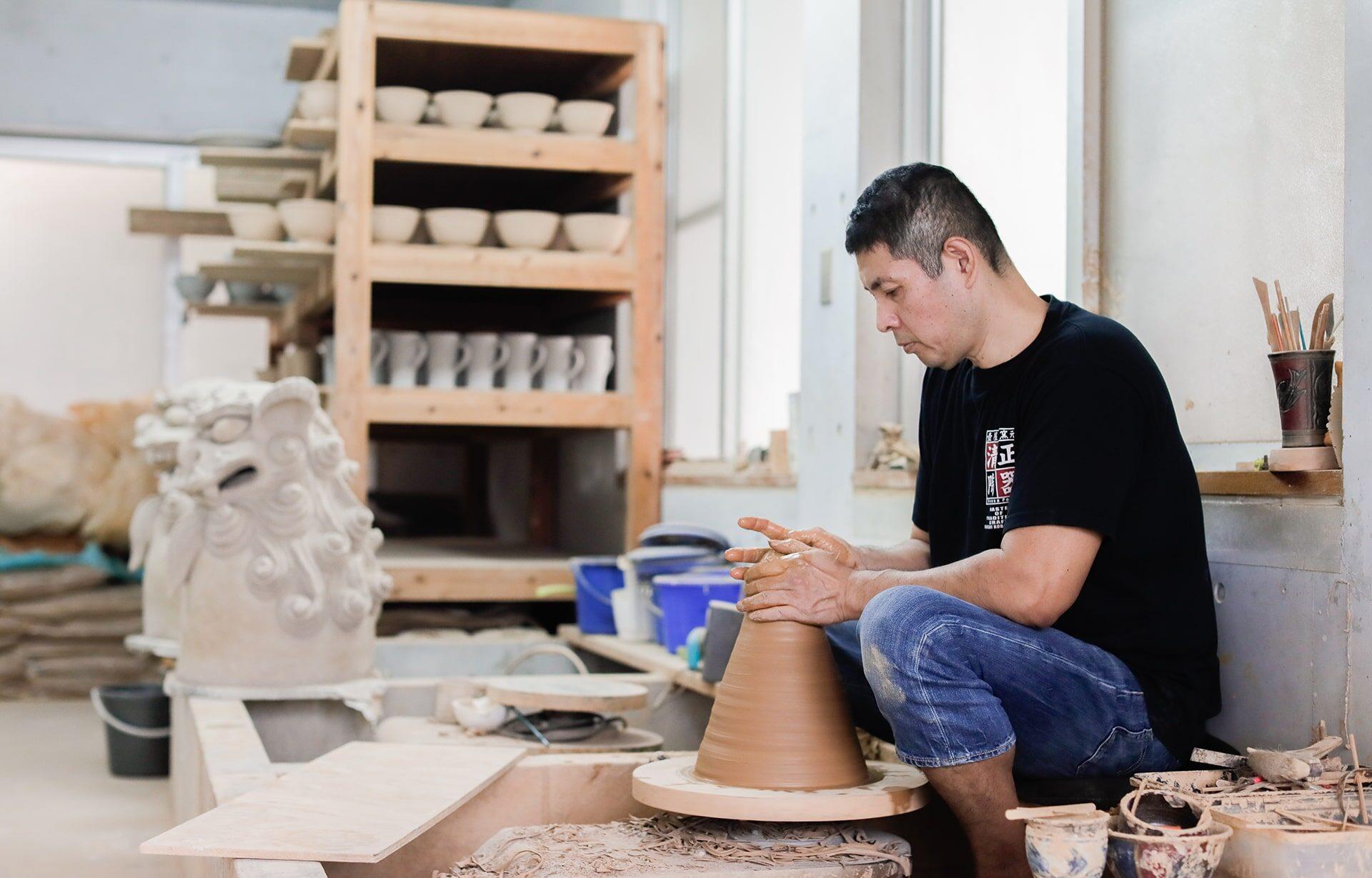 清正陶器壺屋窯の作品づくり